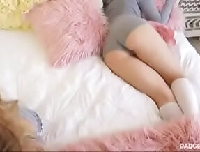 Cute ever sleeping Babysitter get well fucked in her pussy licking