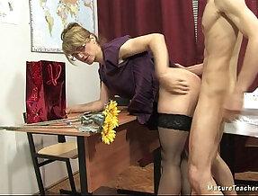 Russian mature teacher Elise teacher