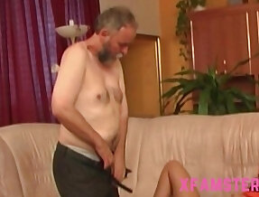 Petite stepdaughter pigtails get fucked so hard by stepdad in wet tiny pussy