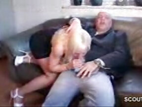 18 years old Teen girl gets her pussy licked and fucked by Grandpa because debts