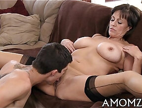 Mama gets rough anal creampied