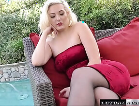 Jenna blows and fucks stepbrother for a thick load