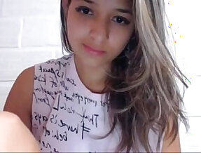 18 year old Brazilian girl spreads her pussy open
