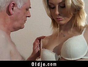Old employer fucks blonde at an interview