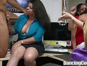 Dancingcock Long hard black Cock Office Orgy