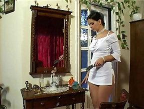 Eve Angel in Short Dress Masterbates