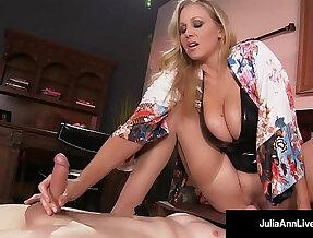 Mega hot milf julia ann abuses her slave boy