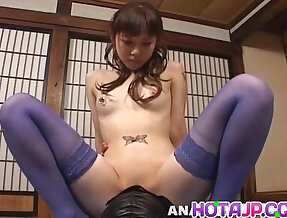 Tomoka Matsunami in lingerie rides masked man face with her wet pussy
