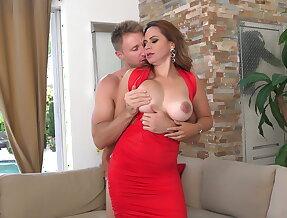 Redhead Milf Gabriela gets her pussy drilled