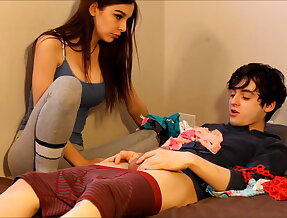 Panty sniffing brother needs his sister