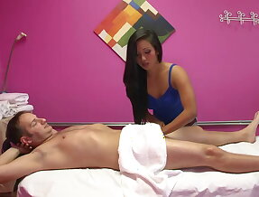 Sideways sex with a masseuse
